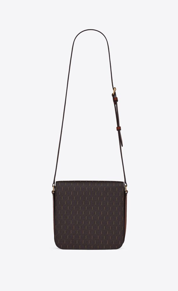 le monogramme medium buckle satchel in monogram canvas and smooth leather