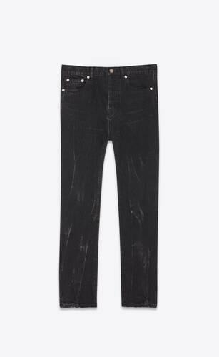 jean straight cropped deep black