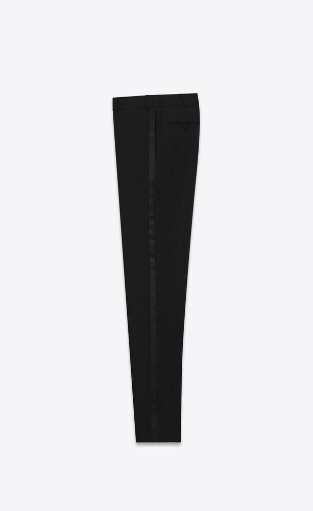 tuxedo straight pants in grain de poudre saint laurent