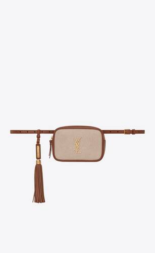 lou belt bag in canvas and leather