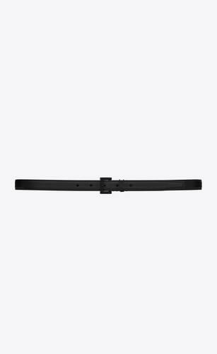 monogram ceinture fine à boucle carrée en cuir lisse