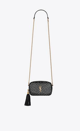 lou mini bag in polka dot leather