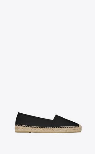 블랙 가죽 소재의 모노그램 에스파드리유
