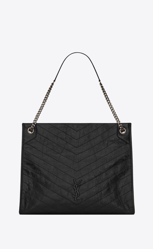 niki large shopping bag in crinkled vintage leather
