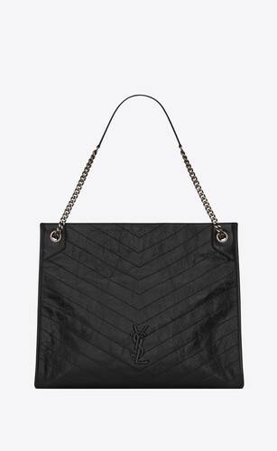 niki large shopping bag in crinkled vintage leather