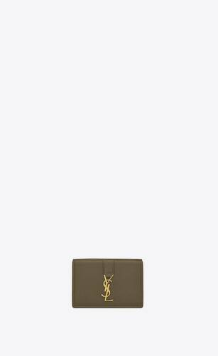 ysl line origami tiny wallet in grained leather