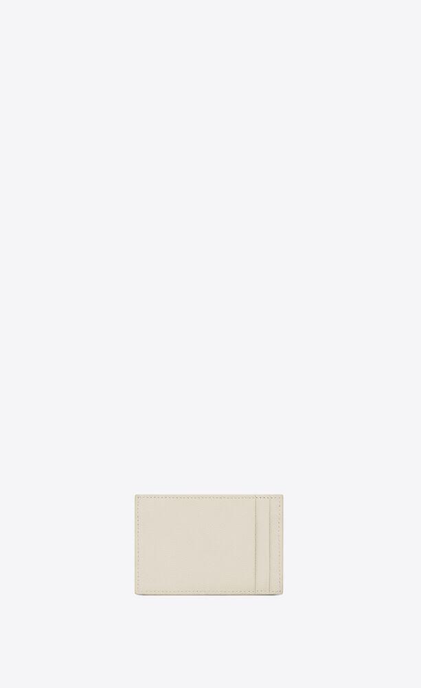 uptown card case in grain de poudre embossed leather