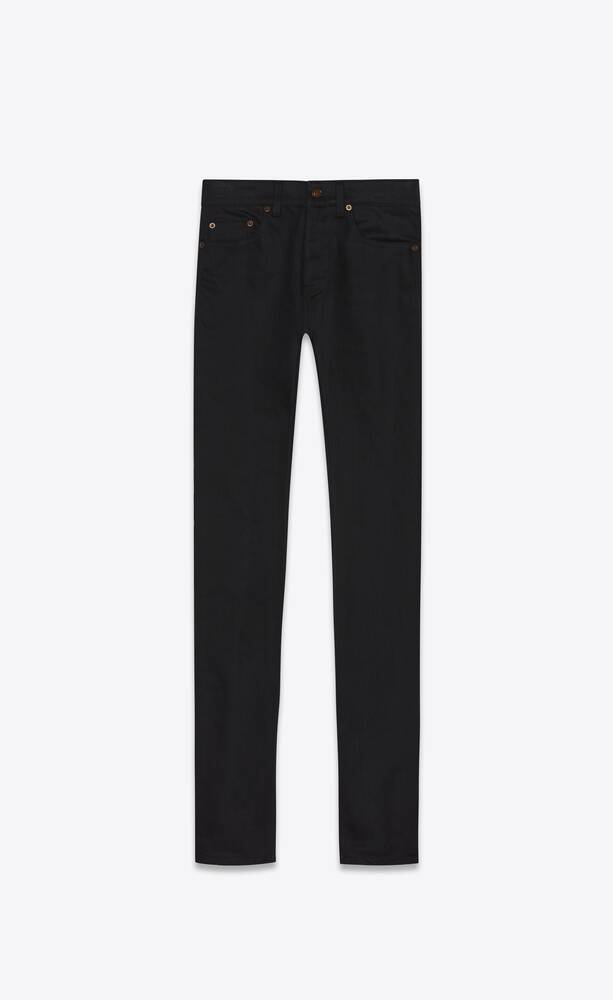 skinny-fit jeans in black stretch denim