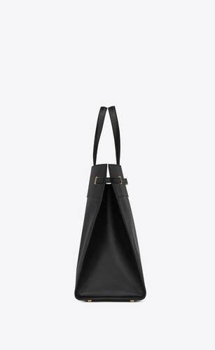 large manhattan shopping bag in smooth leather