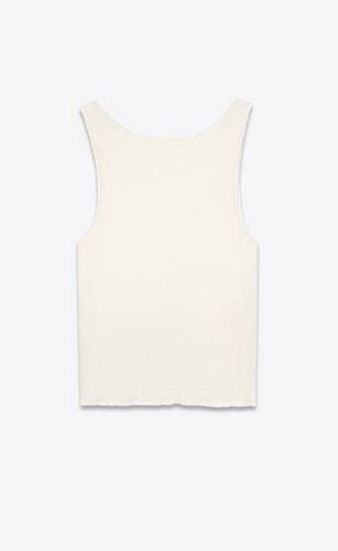 camiseta de tirantes de punto de lino