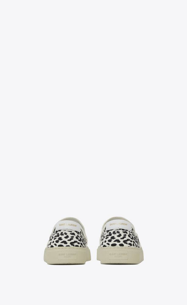 venice slip-on sneakers in babycat-print canvas