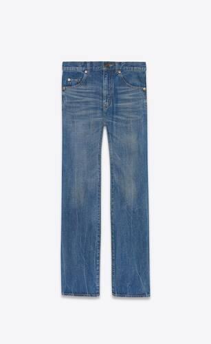60's straight jeans in authentic dark blue denim
