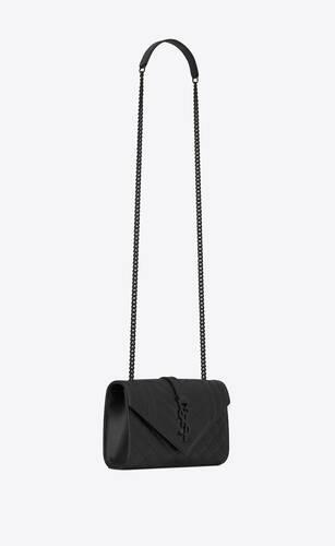 envelope small bag in mix matelassé grain de poudre embossed leather