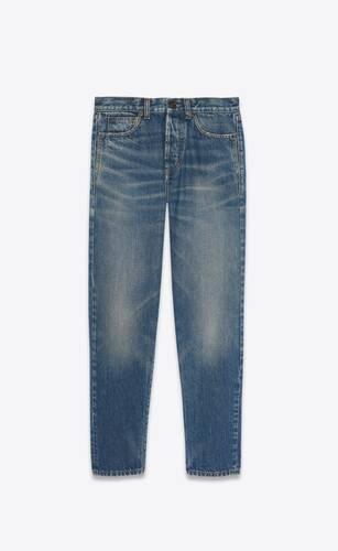 slim-fit jeans in blue serge denim