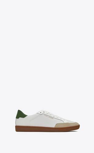 court classic sl/10 sneakers en cuir perforé et suède