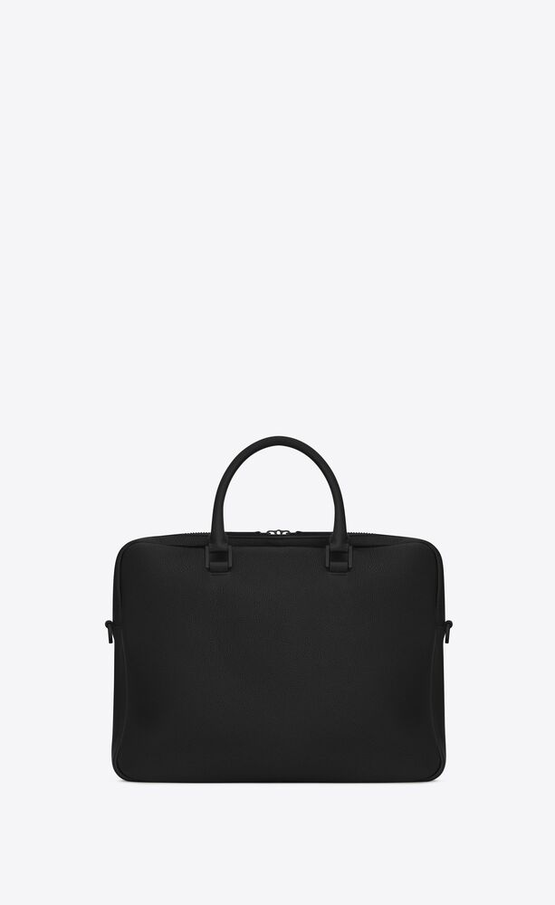 sac de jour briefcase in grained leather