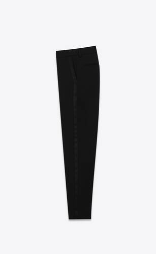 eng anliegende smoking-hose aus grain de poudre von saint laurent