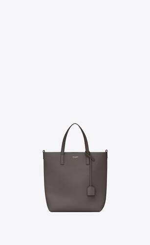 shopping toy bag in earth grey leather