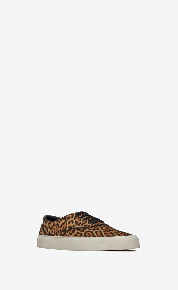 venice sneakers in leopard-print canvas