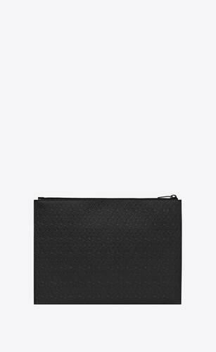 le monogramme all over zippered tablet holder in embossed smooth leather