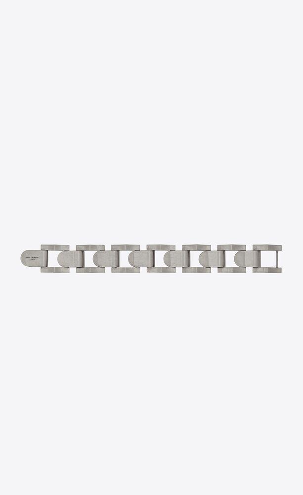 wave link bracelet in silver
