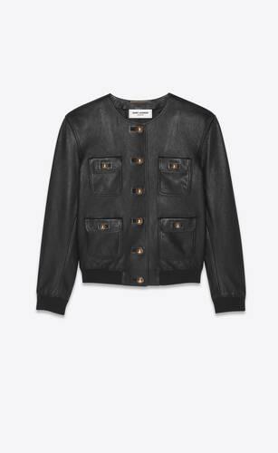 chaqueta de piel de cordero lisa
