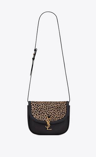 kaia medium satchel in giraffe-print pony-effect leather