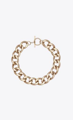 large chain necklace in metal