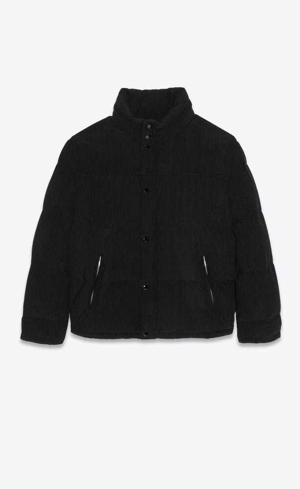oversized down jacket in corduroy