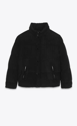 chaqueta de plumas oversize de pana