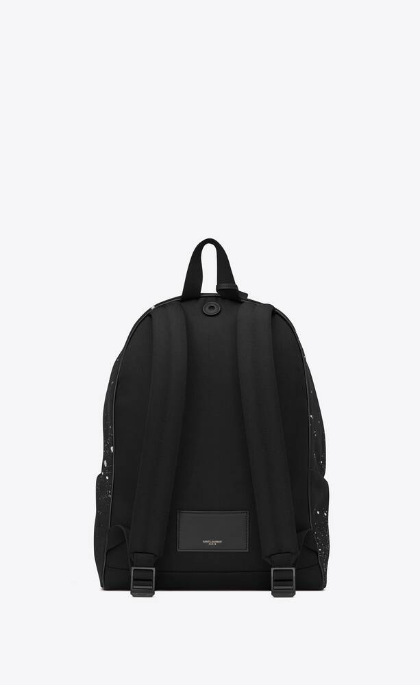 city backpack in galaxy-print canvas