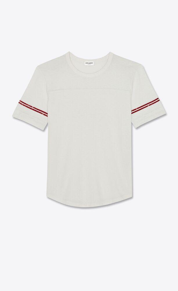 """""""saint laurent"""" '50s signature destroyed t-shirt"""