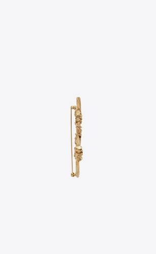 opyum ysl rope brooch in brass