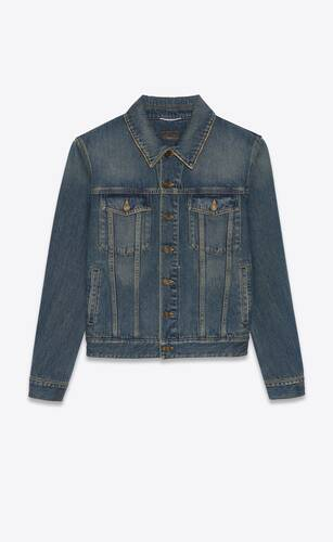 classic jacket in deep vintage blue denim