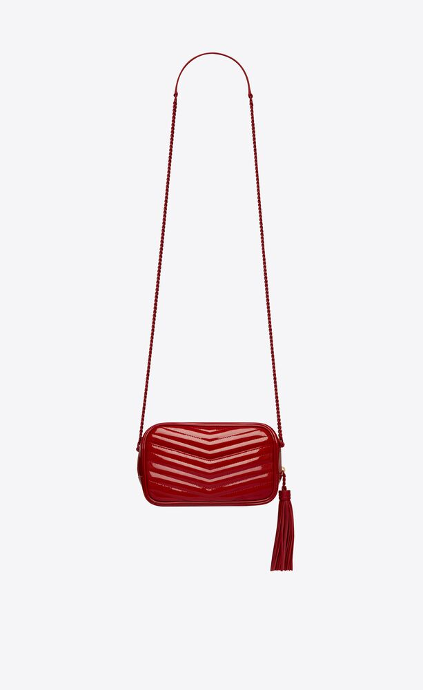 lou mini bag in quilted patent leather