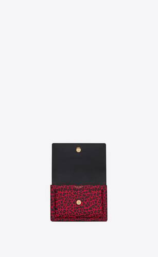 sunset small in leopard-print leather