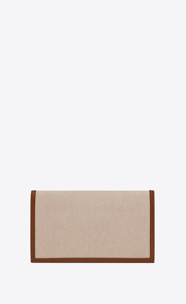 uptown pouch in canvas and smooth leather
