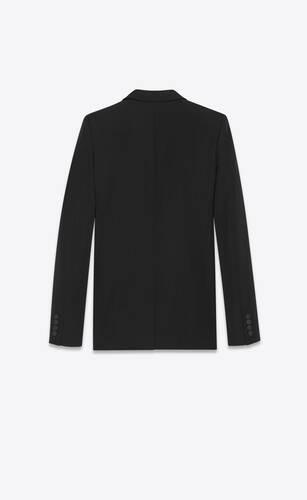 tube tuxedo jacket in grain de poudre saint laurent