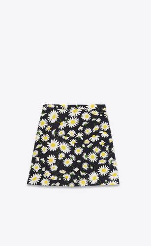 minifalda de sablé con motivo de margaritas