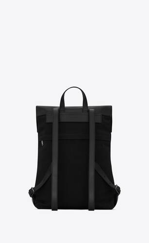 verneuil backpack in canvas and smooth leather