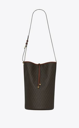 le monogramme bucket bag in canvas and smooth leather