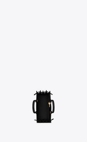 nano sac de jour bag aus schwarzem leder