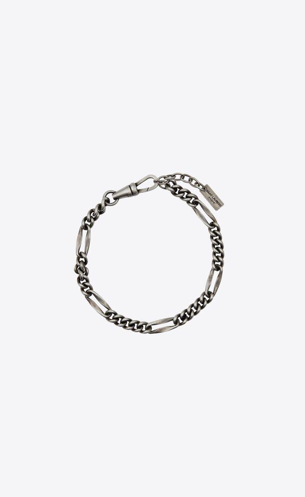 bracelet chaîne à maillons alternés en métal