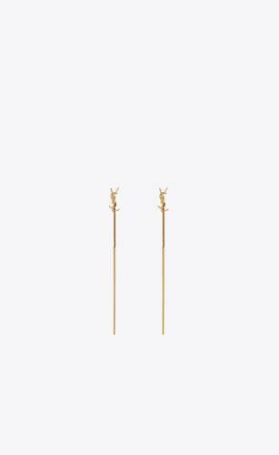 opyum ysl threader earrings in metal