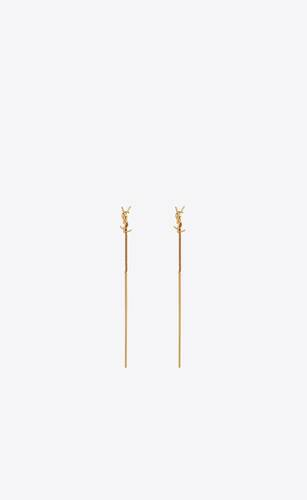 opyum ysl threader earrings in metal