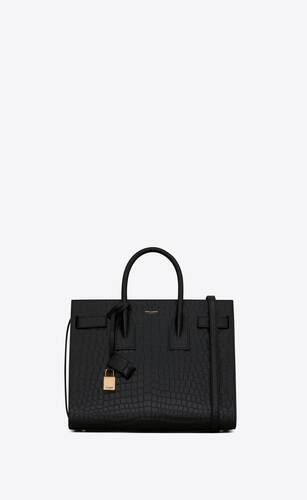 classic sac de jour small in crocodile embossed matte leather