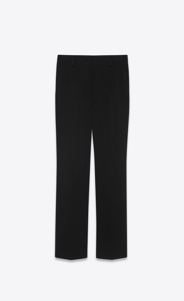 cropped flared pants in wool jersey