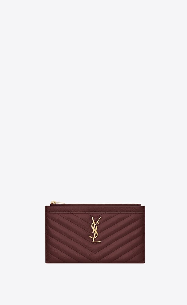 monogram bill pouch in grain de poudre embossed leather