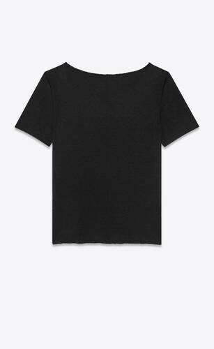 t-shirt in linen jersey