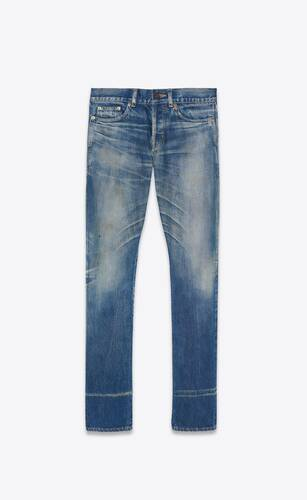 slim-fit jeans in dirty winter blue denim